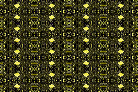 plural: Illustration of repetitive neon yellow flowers