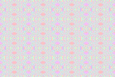 pastel flowers: Illustration of repetitive pastel flowers
