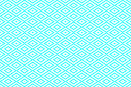 repetitive: Illustration of repetitive cyan and white rhombuses