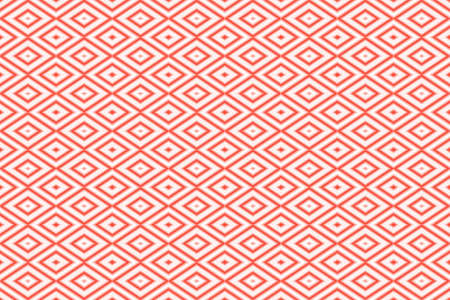 repetitive: Illustration of repetitive red and white rhombuses Stock Photo