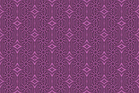 pink and black: Illustration of repetitive pink and black swirls