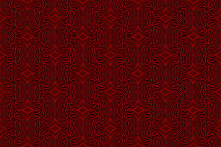 repetitive: Illustration of repetitive red and black swirls