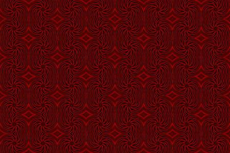 black swirls: Illustration of repetitive red and black swirls