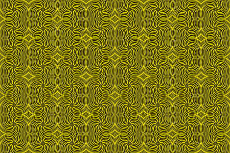 repetitive: Illustration of repetitive yellow and black swirls