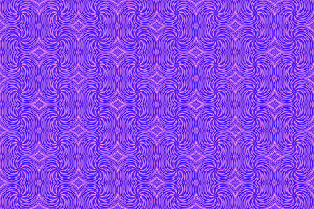 plural: Illustration of repetitive pink and purple swirls Stock Photo