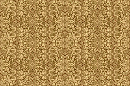 plural: Illustration of repetitive brown and vanilla colored swirls Stock Photo