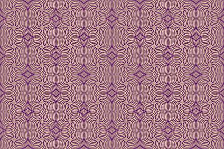 repetitive: Illustration of repetitive purple and vanilla colored swirls