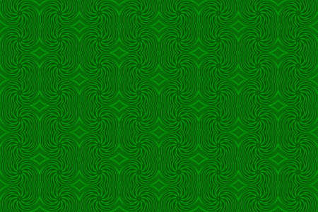 repetitive: Illustration of repetitive green swirls Stock Photo