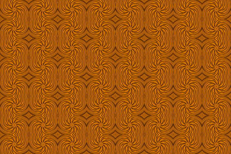 plural: Illustration of repetitive orange and brown swirls