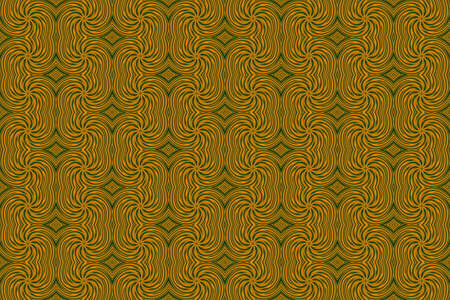 repetitive: Illustration of repetitive orange and green swirls