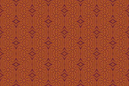 repetitive: Illustration of repetitive orange and purple swirls Stock Photo