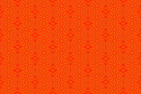 red swirls: Illustration of repetitive orange and red swirls