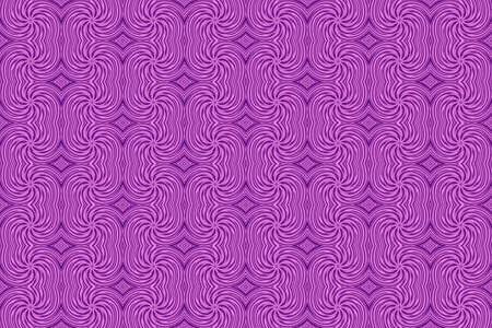 repetitive: Illustration of repetitive pink and purple swirls Stock Photo