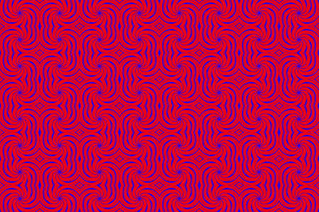 blue swirls: Illustration of repetitive red and blue swirls