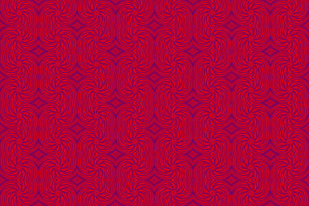 repetitive: Illustration of repetitive red and purple swirls Stock Photo