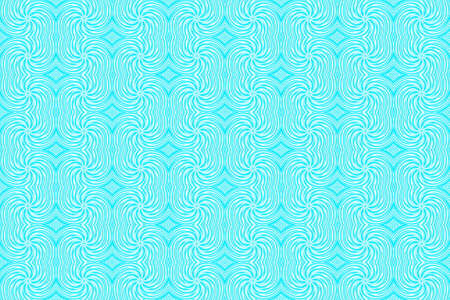 plural: Illustration of repetitive cyan and white swirls