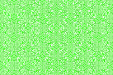 plural: Illustration of repetitive green and white swirls Stock Photo