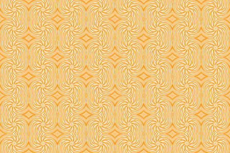 plural: Illustration of repetitive orange and white swirls Stock Photo