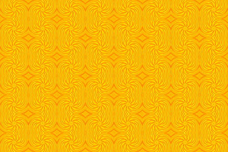 plural: Illustration of repetitive yellow and orange swirls Stock Photo