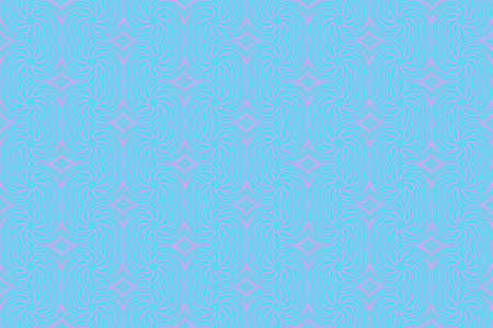 repetitive: Illustration of repetitive cyan and pink swirls