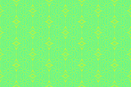 repetitive: Illustration of repetitive cyan and yellow swirls