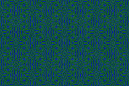 repetitive: Illustration of repetitive dark blue and dark green swirls Stock Photo