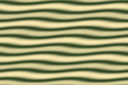 dark green: Illustration of dark green and vanilla painted waves