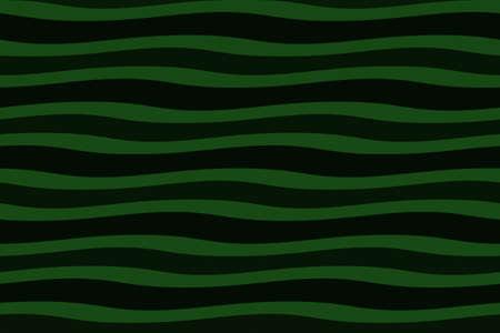 dark green: Illustration of dark green and black painted waves