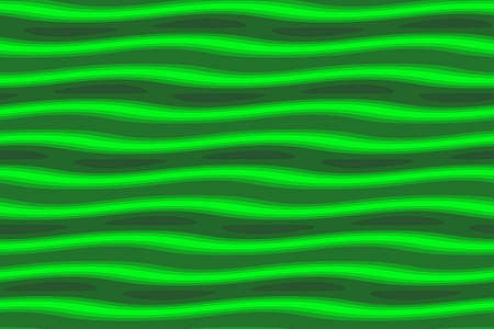 dark green: Illustration of dark green and light green painted waves Stock Photo