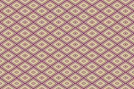 repetitive: Illustration of repetitive purple and vanilla colored rhombuses