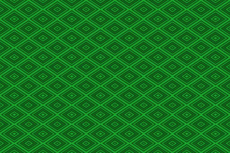 Illustration of repetitive dark green and light green rhombuses Imagens