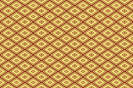 repetitive: Illustration of repetitive red and yellow rhombuses