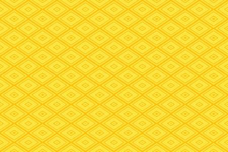 buzzer: Illustration of repetititve yellow and orange rhombuses