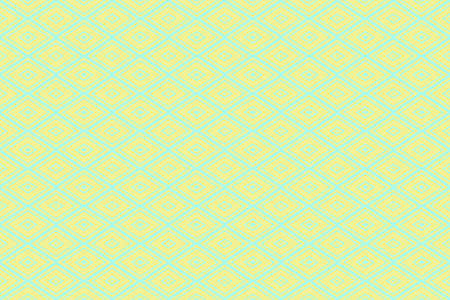 Illustration of repetitive yellow and cyan rhombuses