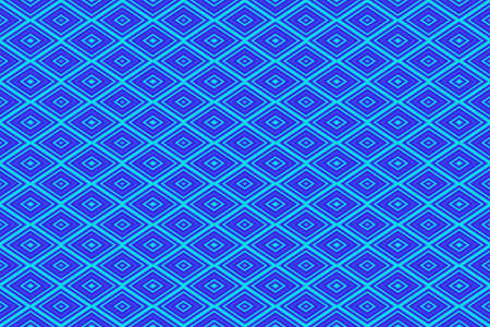 Illustration of repetitive dark blue and cyan rhombuses