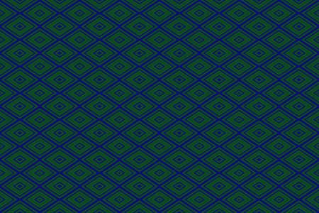 repetitive: Illustration of repetitive dark blue and dark green rhombuses