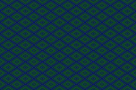 Illustration of repetitive dark blue and dark green rhombuses