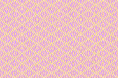 repetitive: Illustration of repetitive pink and yellow rhombuses