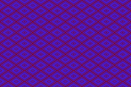 plural: Illustration of repetitive dark blue and purple rhombuses Stock Photo