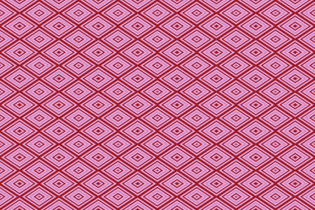 repetitive: Illustration of repetitive pink and red rhombuses Stock Photo
