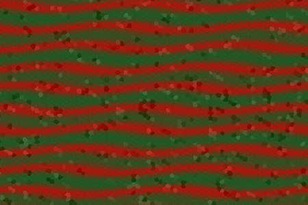 dark green: Illustration of red and dark green mosaic waves