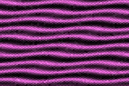 pink and black: Illustration of pink and black mosaic waves Stock Photo