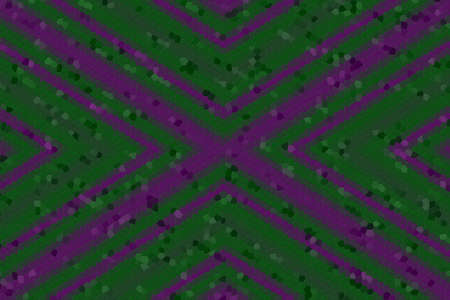dark green: Illustration of a dark green and purple mosaic cross Stock Photo