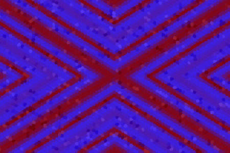 dark blue: Illustration of a red and dark blue mosaic cross