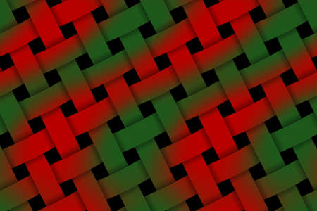 rattan: Illustration of red and green pattern weaved
