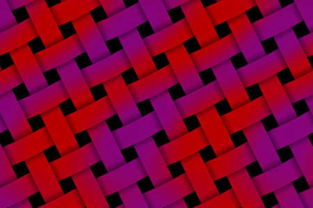 weaved: Illustration of red and purple weaved pattern