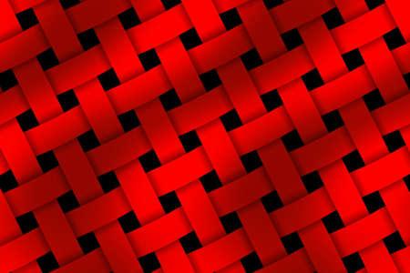 weaved: Illustration of red weaved pattern