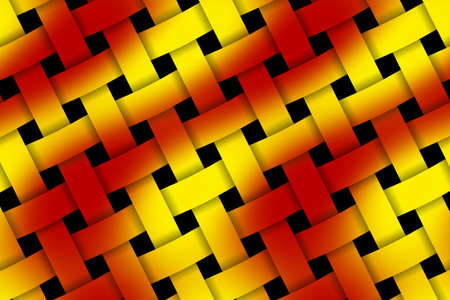 weaved: Illustration of red and yellow weaved pattern