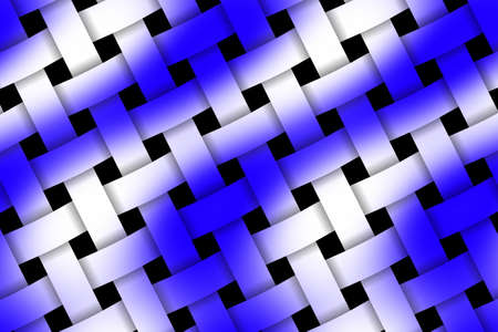 weaved: Illustration of blue and white weaved pattern