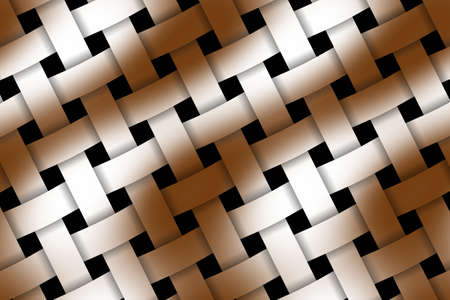 weaved: Illustration of brown and white weaved pattern Stock Photo